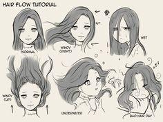 Hair flow tutorial (1000x750)