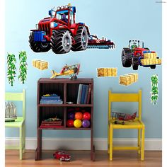 Farm Tractor Giant Wall Decal & John Deere 6210R Tractor Wall Decals by Fathead Multicolor ...