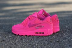 The Nike Air Max 90 GS is available now in Hyper Pink / Vivid Pink.