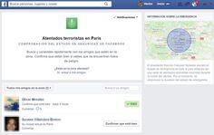 Facebook activa página para comprobar estado de seguridad de familiares y amigos en Paris