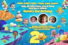 Bubble Guppie Birthday Invitations
