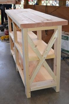 DIY Furniture: X-Console Table | Do It Yourself Home Projects from Ana White. #DIY #Furniture. by valentina.ivanova.79677