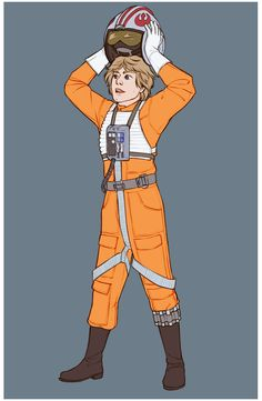 """zu-art: """" Tier 4 patron request - Luke Skywalker in his carrot outfit. I'd been looking for an excuse to draw this kid so I was super happy drawing this lol Star Wars Fan Art, Star Trek, Ghibli, Star Wars Luke Skywalker, Original Trilogy, Star War 3, Mark Hamill, Saga, Love Stars"""