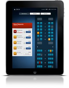 Delta Airlines In-Flight Service App Concept by Greg Carley, via Behance