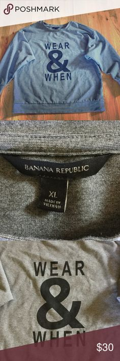 Banana Republic sweatshirt Soft and cozy BR sweatshirt! Perfect for fall!! Banana Republic Tops Sweatshirts & Hoodies