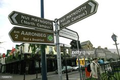 Maynooth, IRELAND: Signs indicating the direction of the various... #maynooth: Maynooth, IRELAND: Signs indicating the direction… #maynooth