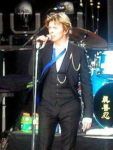 David Bowie, 2002. Good God does this man have amazing fashion sense.