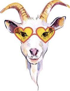 Animal Drawings, Cute Drawings, Goat Paintings, Goat Art, Animal Doodles, Funky Art, Drawing Practice, Farm Yard, Watercolor Animals