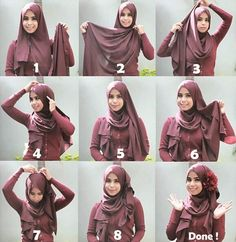 This is a very easy basic hijab style for beginners, it's ...