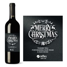 Our personalized corporate wine labels with logo are sure to be a hit with clients, partners, associates or employees. NOW AVAILABLE: Christmas business greetings and thank you wine labels!