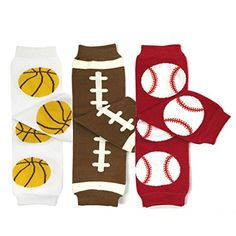 Bowbear Baby 3Pair Leg Warmers Basketball Football Baseball * Click image to review more details-affiliate link. #Babyon SALE