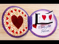 How to Make  3D Greeting Card Valentines Day Heart  Step by