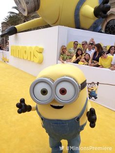 The minions are arriving in style at the #MinionsPremiere! Look it's #Bob!