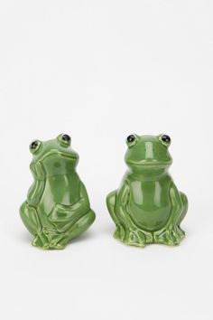 Frog Salt And Pepper Shaker - Set Of 2 for $12.00 - SO cute. Can't help but smile.
