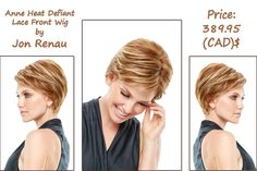Anne Lace Front Wig by Jon Renau Type:Heat Defiant Synthetic Cap Size:Average http://www.hairandbeautycanada.ca/anne-heat-defiant-lace-front-wig/ #frontlacewig   #onlinelacewigcanada   #lacewigsincanada