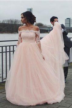 Off The Shoulder Evening Dress#OffTheShoulderEveningDress Lace Wedding Dress#LaceWeddingDress Pink Wedding Dress#PinkWeddingDress Custom Wedding Dress#CustomWeddingDress