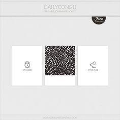 Quality DigiScrap Freebies: Dailycons II pocket cards freebie from Digital Design Essentials