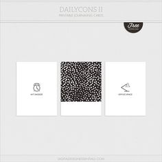 Free Dailycons II Journal Cards    Digital Design Essentials