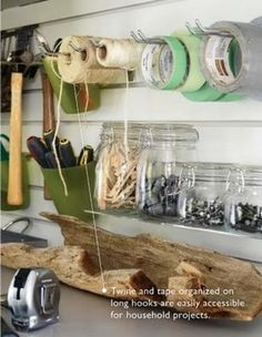 Perfect for over the workbench!    Garage organization