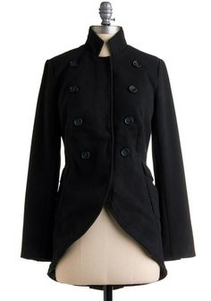 High Ranking Style Black Coat
