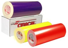 Oracal 651 Vinyl - 12 inch Rolls Sold By The Yard! Colors starting at $2.15/yd and Black & White starting at $1.99/yd.