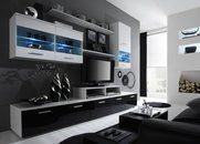 The entertainment section is probably the most important and central part of the living room. Modern Tv Unit Designs, Modern Tv Wall Units, Wall Unit Designs, Tv Cabinet Design, Wall Mounted Tv, Modern Coffee Tables, Modern Interior Design, Living Room Designs, Entertainment