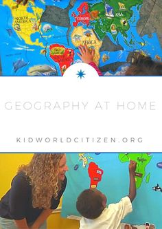 Geography at home- teacher and mom shares easy ways to incorporate geography and global learning at home, even with little kids. Learning Resources, Teaching Tools, Teaching Kids, Geography For Kids, World Geography, Student Centered Learning, Learning A Second Language, Global Awareness, Map Skills