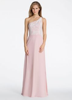 Hayley Paige Occasions Bridesmaids and Special Occasion Dresses Style 5606 by JLM Couture, Inc. Blush Pink Bridesmaid Dresses, One Shoulder Bridesmaid Dresses, Wedding Dresses, Dusty Rose Gown, Long Circle Skirt, Sleeping Beauty Wedding, Mob Dresses, Casual Dresses, Special Occasion Dresses