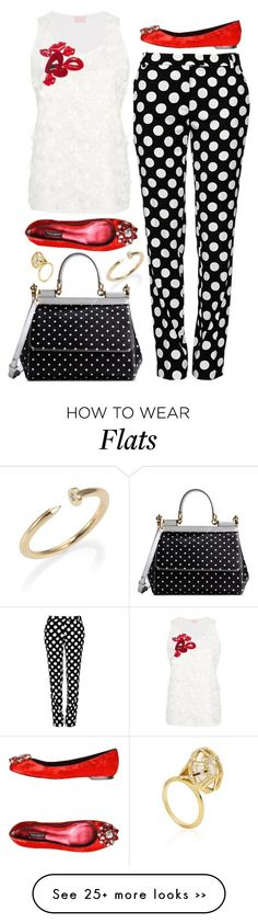 """""""Dots & Lips"""" by cherieaustin on Polyvore"""