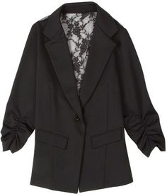 Poof 3/4 Sleeve Lace Back Blazer $17.00
