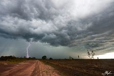 Severe afternoon thunderstorm over the Darwin rural area, NT, AU