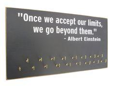 running medals display rack  Albert Einstein by runningonthewall