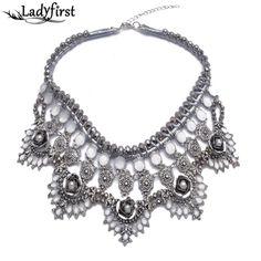 Trendy Designer Crystal Pendant Necklace Sweater Chain Statement Luxury Party Jewelry Za Brand Necklace B1115 Like if you rememberVisit our store --->  http://www.jewelrydue.com/product/2014-new-trendy-designer-crystal-pendant-necklace-sweater-chain-statement-luxury-party-jewelry-za-brand-necklace-b1115/ #shop #beauty #Woman's fashion #Products #homemade