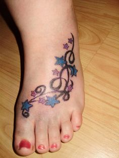 tattoos on feet | Star foot Tattoo by ~Torment-Ink on deviantART