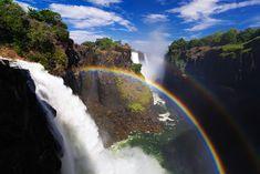 Breathtaking Rainbows Over the World's Largest Waterfall - My Modern Metropolis