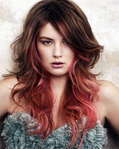 cabelo rosa discreto
