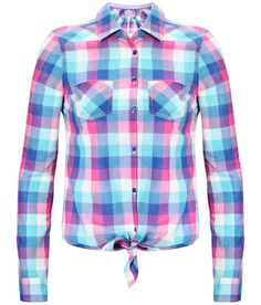 Plaid Tie-Up Shirt
