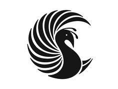 Ideas Black Bird Logo Graphic Design For 2019 Bird Stencil, Stencil Painting, Fabric Painting, Stencil Patterns, Stencil Designs, Pattern Art, Peacock Drawing, Peacock Art, Peacock Design
