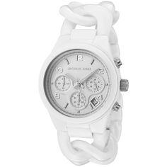 Michael Kors Ladies' Large Link Bracelet Watch In White - Beyond the Rack