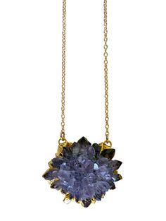 amethyst FLOWER necklace | kei