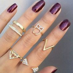 Trend , knuckle rings....