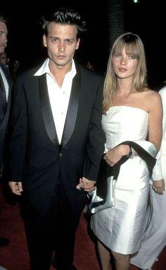 Johnny Depp et Kate Moss 1995