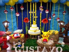 bem bolado daniela genari: Festa rústica do Pokemon #pokemonparty #pikachu