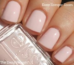 Essie - Romper Room: Use this on the nails, and Maybelline New York Color Show Nail Lacquer, in Neutral Statement, on the toes, for a seashell soft look.