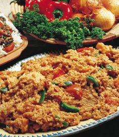 West African's Main Dishes - Jollof Rice - Miss Favor Elizabeth - West African's Main Dishes - Jollof Rice West African's Main Dishes - Jollof Rice - South African Dishes, West African Food, Ghanaian Food, Nigerian Food, Rice Dishes, Tasty Dishes, Main Dishes, Jollof Rice, Soul Food