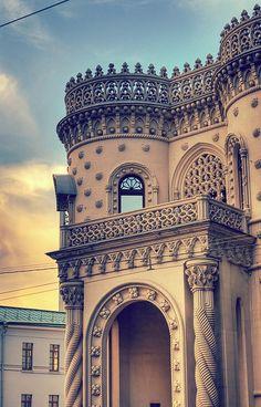 Stunning building in Moscow, Russia Воздвиженка. Дом Арсения Морозова, родственник Саввы Морозова.