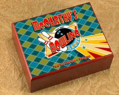 Personalized Cigar Humidor - Bowling HumidorKeep your cigars at their freshest with our colorful and sturdy sublimated cigar humidor. Cheap Gifts For Dad, Customized Gifts, Personalized Gifts, Bowling Party Favors, Christmas Ships, Christmas Gifts, Cigar Humidor, Pub Signs, Baby Keepsake