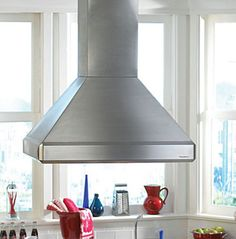 The Vent-A-Hood in. Euro Style Emerald Island Range Hood is a perfect solution for your kitchen range, griddle, or indoor grill. This vent. Decor, Kitchen Niche, House Styles, Small Apartments, Halogen Lighting, Range Hood, Yellow Kitchen, Led Lights, Vented