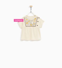 EMBROIDERED T-SHIRT-T-SHIRTS-BABY GIRL | 3 months - 4 years-KIDS | ZARA United States