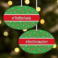 Hashtag Holiday Oval Ornament Christmas Ornaments Holiday How To Make Ornaments